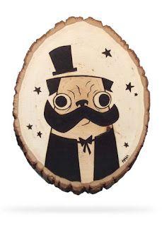 Green Sketches and Ham: Pug Magician - Woodburn