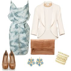 """""""blue, white & beige"""" by bonnaroosky on Polyvore"""