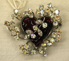beautiful heart Pin - Dior 1950's, happy valentine's day