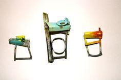 Esme Parsons 'Urbanisation' rings 2014 : oxidised silver and enamel. www.facebook.com/esmeparsonsjewellery