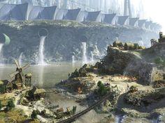 fantasy landscape art | Fantasy Landscapes Wallpapers 1024 x 768