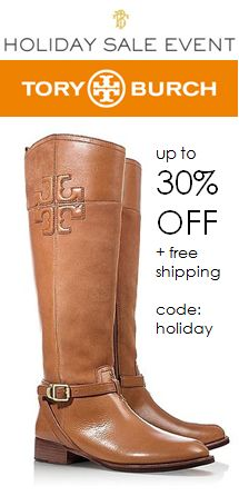 Enjoy up to 30% OFF at the Tory Burch Holiday sale when you use the code: HOLIDAY at checkout. Ends 12/2 at 11:59 Pacific Time. Click through for details http://rstyle.me/n/dhzqin2bn