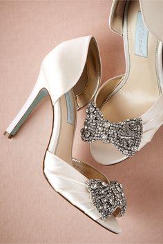 Crystal Bow D'Orsays from BHLDN