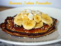 3 Ingredient Tahini Pancakes