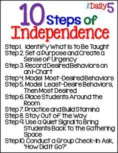 10 Steps of Independance