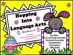 Hopping Into Language Arts - Easter Activities