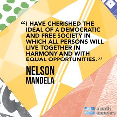 Today we honor a man who paved a path to equality and changed the destiny of the millions living under apartheid. His courage and integrity changed the world. And what better way to honor him than to continue his fight for equality? Take some time today to make a difference, no matter how small.  Thank you, Nelson Mandela! #Time2Serve #MandelaDay #quote