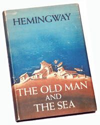 """The Old Man and the Sea, by Ernest  Hemingway.    New York: Charles Scribner's Sons, 1952. First edition, presentation copy, inscribed by Hemingway on the front free end-paper in black ink: """"To Carlos/best always/Ernest Hemingway."""".  Carlos could be Carlos Gutierrez, inspiration for Santiago, this story's protagonist; or Carlos Baker, Hemingway's biographer.  Listed by Dragon Books, LLC.  #firstedition #hemingway #signed"""