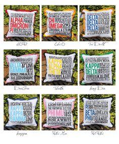 Sorority Pillows - Alpha Omicron Pi!