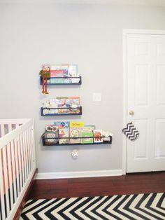 DIY Spice Rack Bookshelves - #nursery #DIY