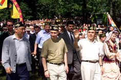 The Great Leader Putin at a Tatar festival in Kazan(2000)