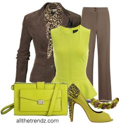 Brown and Lime Green
