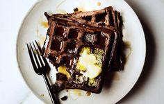 Dark Chocolate Waffles - Bon Appétit