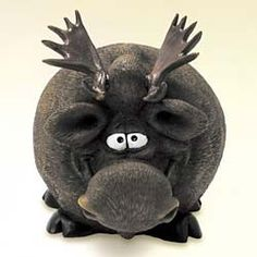 Moose piggy bank.  Your favourite piggy banks: http://www.helpmetosave.com/2012/02/piggy-bank/