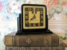 little black art deco clock