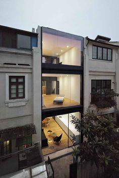 houses, glasses, window, offic, architecture, modern hous, split hous, design, shanghai