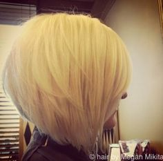 Stacked Bob Haircut for Blonde Hair
