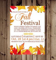 Hey, I found this really awesome Etsy listing at https://www.etsy.com/listing/160799705/printable-custom-fall-festival-or-party