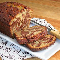 Marbled Chocolate Banana Bread | Alida's Kitchen