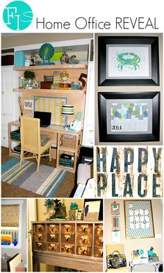 DIY Home Office Reveal - secrets to creating a Fun & Function work space in your home