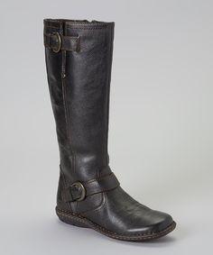 Black Leather Bernice Knee-High Boot   b.o.c.