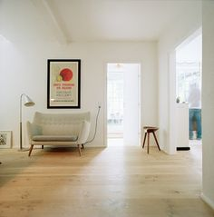 Stylepark loveseat, interior, living rooms, cleanses, couch, floor, open spaces, chairs, white walls