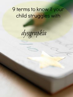 Does your child have trouble with others being able to read her writing, or with organizing thoughts on paper? Here are some ways to talk about these difficulties, which can be signs of #dysgraphia.