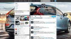 Sfruttando la nuova possibilità di centrare il background di Twitter e l'Intestazione #VolvoV40