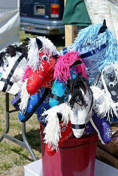 bandana stick horse tutorial