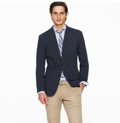 blue, men style, ludlow fit, blazers, stripes