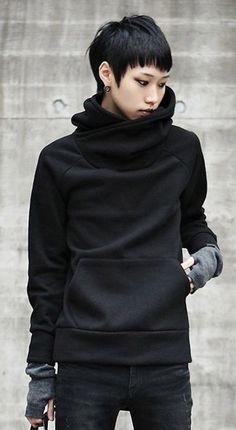 Cowl neck sweatshirt. this looks warm for Amanda