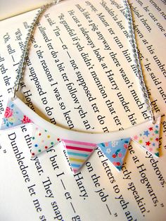 Bunting Necklace Cath Kidston Prints Girly and Sweet