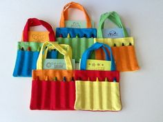 Primary Colors Children's Crayon Bag and by JustSomethingSpecial, $25.00