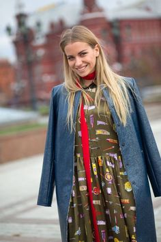 New street style photos in straight from Moscow Fashion Week to inspire your winter wardrobe: