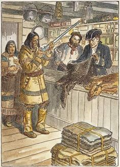 Photograph:Native Americans traded furs for supplies at places called trading posts.