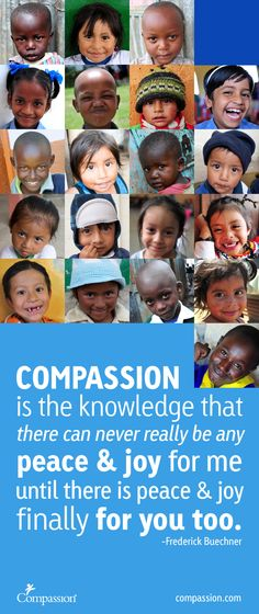 The meaning of compassion is to recognize the suffering of others, then take action to help.