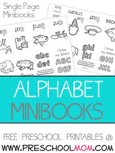 alphabet minibooks