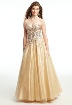 Beaded corset tulle ballgown Prom Dress from Camille La Vie and Group USA