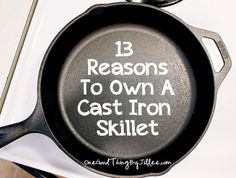 Cast Iron Skillet -- Nice article. She lists a Great link: see Excellent article on reconditioning and re-seasoning cast iron