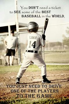 Love this picture of my son up to bat! And the quote is 100% true. My favorite games to watch are that of my children. Little League baseball little league baseball quotes, favorit game, son, play ball, kid