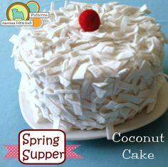 Spring Supper - Felt Food PDF Pattern - American Felt & Craft