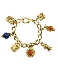 Gold Royalty Charm Bracelet