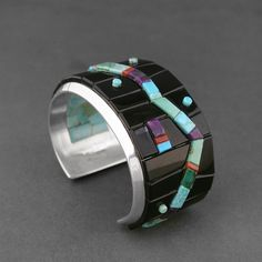Inlaid Cuff by Michael Dukepoo (Hopi/Yaqui)