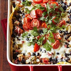 Tortilla-Black Bean Casserole.