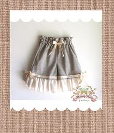 Girls Ruffle Beach Shorts by pleasantlypeasant on Etsy, $34.00