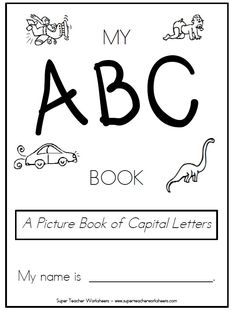 Check out this pintable book of capital letters.  Students can color, write and trace their way to learning the alphabet!