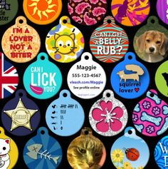 Custom-Made Pet ID Tags.