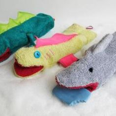washcloth hand puppets