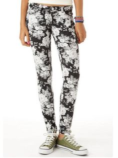 Dark floral jeans are an awesome BTS trend!