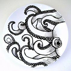 Octopus Plate Ceramic